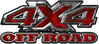 4x4 Truck Decals Offroad for Chevy Ford Dodge or Toyota in red camo