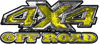 4x4 Truck Decals Offroad for Chevy Ford Dodge or Toyota in yellow camo