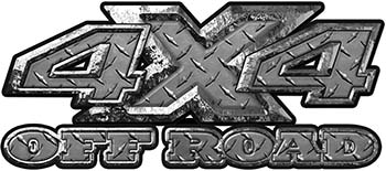 4x4 Truck Decals Offroad for Chevy Ford Dodge or Toyota in diamond plate