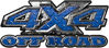 4x4 Truck Decals Offroad for Chevy Ford Dodge or Toyota in diamond plate blue