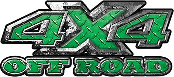 4x4 Truck Decals Offroad for Chevy Ford Dodge or Toyota in diamond plate green