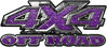 4x4 Truck Decals Offroad for Chevy Ford Dodge or Toyota in diamond plate purple