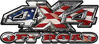4x4 Truck Decals Offroad for Chevy Ford Dodge or Toyota in american flag