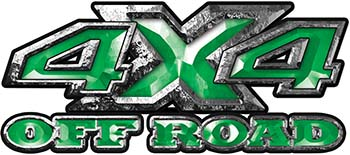4x4 Truck Decals Offroad for Chevy Ford Dodge or Toyota in green