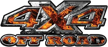 4x4 Truck Decals Offroad for Chevy Ford Dodge or Toyota with inferno flames