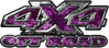 4x4 Truck Decals Offroad for Chevy Ford Dodge or Toyota with purple inferno flames
