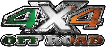 4x4 Truck Decals Offroad for Chevy Ford Dodge or Toyota with Irish Ireland Flag