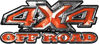 4x4 Truck Decals Offroad for Chevy Ford Dodge or Toyota in Orange