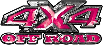 4x4 Truck Decals Offroad for Chevy Ford Dodge or Toyota in Pink