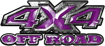4x4 Truck Decals Offroad for Chevy Ford Dodge or Toyota in Purple