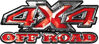 4x4 Truck Decals Offroad for Chevy Ford Dodge or Toyota in Red