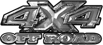 4x4 Truck Decals Offroad for Chevy Ford Dodge or Toyota in silver