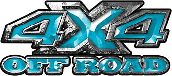 4x4 Truck Decals Offroad for Chevy Ford Dodge or Toyota in teal