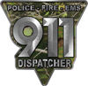 911 Emergency Dispatcher Police Fire EMS Decal in Camouflage