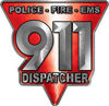 911 Emergency Dispatcher Police Fire EMS Decal in Red