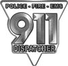 911 Emergency Dispatcher Police Fire EMS Decal in White