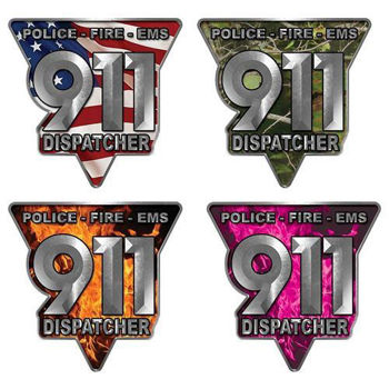 Call 911 Emergency Dispatcher Decals - Police, Fire and EMS