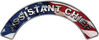 Assistant Chief Fire Fighter, EMS, Rescue Helmet Arc / Rockers Decal Reflective With American Flag