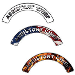 Reflective Assistant Chief Firefighter Crescent Fire Helmet Decals