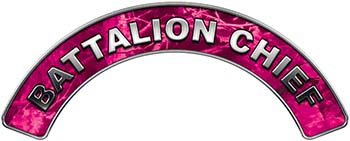 Battalion Chief Fire Fighter, EMS, Rescue Helmet Arc / Rockers Decal Reflective in Pink Camo