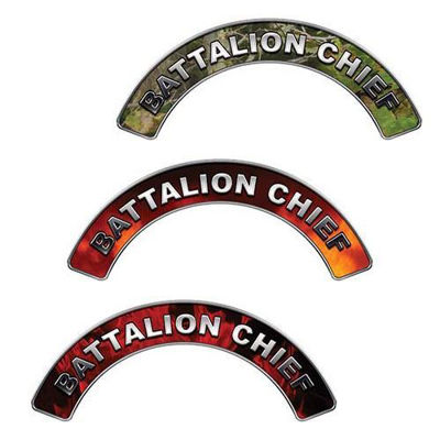 Reflective Battalion Chief Firefighter Crescent Fire Helmet Decals