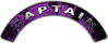 Captain Fire Fighter, EMS, Rescue Helmet Arc / Rockers Decal Reflective In Inferno Purple Real Flames