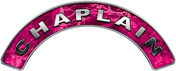 Chaplain Fire Fighter, EMS, Rescue Helmet Arc / Rockers Decal Reflective in Pink Camo