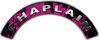 Chaplain Fire Fighter, EMS, Rescue Helmet Arc / Rockers Decal Reflective In Inferno Pink Real Flames