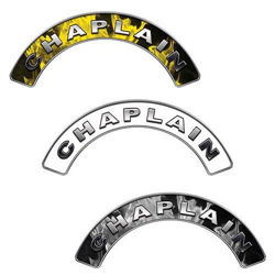 Reflective Chaplain Firefighter Crescent Fire Helmet Decals