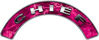 Chief Fire Fighter, EMS, Rescue Helmet Arc / Rockers Decal Reflective in Pink Camo