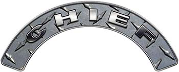 Chief Fire Fighter, EMS, Rescue Helmet Arc / Rockers Decal Reflective in Diamond Plate