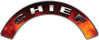 Chief Fire Fighter, EMS, Rescue Helmet Arc / Rockers Decal Reflective in Real Fire