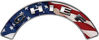 Chief Fire Fighter, EMS, Rescue Helmet Arc / Rockers Decal Reflective With American Flag