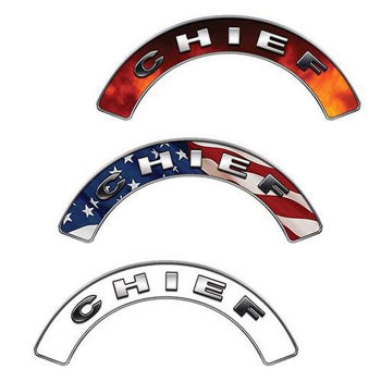 Reflective Firefighter Chief Crescent Fire Helmet Decals