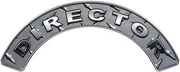 Director Fire Fighter, EMS, Rescue Helmet Arc / Rockers Decal Reflective in Diamond Plate