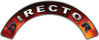 Director Fire Fighter, EMS, Rescue Helmet Arc / Rockers Decal Reflective in Real Fire