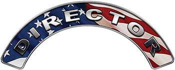 Director Fire Fighter, EMS, Rescue Helmet Arc / Rockers Decal Reflective With American Flag