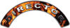 Director Fire Fighter, EMS, Rescue Helmet Arc / Rockers Decal Reflective In Inferno Real Flames