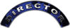 Director Fire Fighter, EMS, Rescue Helmet Arc / Rockers Decal Reflective In Inferno Blue Real Flames
