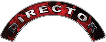 Director Fire Fighter, EMS, Rescue Helmet Arc / Rockers Decal Reflective In Inferno Red Real Flames