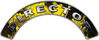 Director Fire Fighter, EMS, Rescue Helmet Arc / Rockers Decal Reflective In Inferno Yellow Real Flames