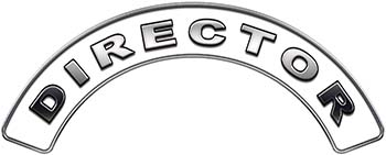 Director Fire Fighter, EMS, Rescue Helmet Arc / Rockers Decal Reflective in White