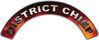 District Chief Fire Fighter, EMS, Rescue Helmet Arc / Rockers Decal Reflective in Real Fire