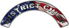 District Chief Fire Fighter, EMS, Rescue Helmet Arc / Rockers Decal Reflective With American Flag
