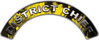 District Chief Fire Fighter, EMS, Rescue Helmet Arc / Rockers Decal Reflective In Inferno Yellow Real Flames
