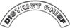District Chief Fire Fighter, EMS, Rescue Helmet Arc / Rockers Decal Reflective in White