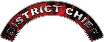 District Chief Fire Fighter, EMS, Rescue Helmet Arc / Rockers Decal Reflective in Inferno Red Flames