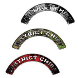 Reflective District Chief Firefighter Crescent Fire Helmet Decals