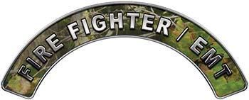 EMT Fire Fighter, EMS, Rescue Helmet Arc / Rockers Decal Reflective in Camo