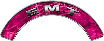 EMT Fire Fighter, EMS, Rescue Helmet Arc / Rockers Decal Reflective in Pink Camo